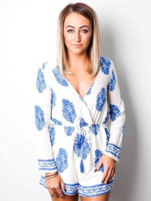 Paisley Playsuit | Wardrobe Boutique Bacup
