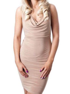 Slinky Cross Back Dress | Wardrobe Boutique Bacup