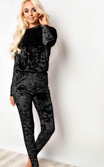 Crushed Velvet Loungesuit   Wardrobe Boutique Bacup