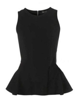 Black Peplum Top | Wardrobe Boutique Bacup