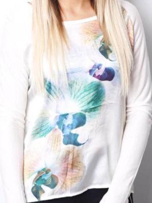 Floral Silk Back Top | Wardrobe Boutique Bacup