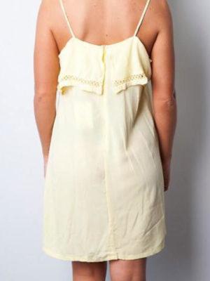 Lemon Strappy Shoulder Dress   Wardrobe Boutique Bacup