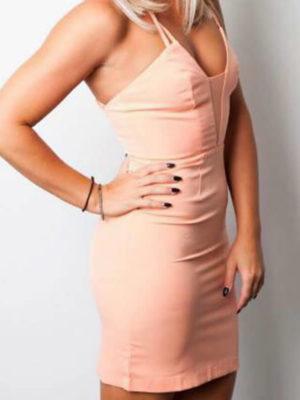 Nude Mini Dress | Wardrobe Boutique Bacup