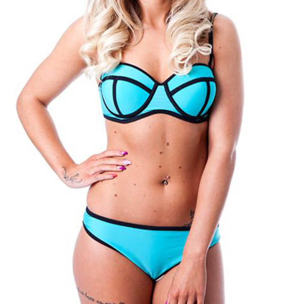 Teal Triangle Bikini | Wardrobe Boutique Bacup
